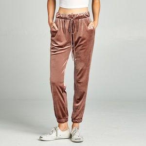 Velvet Joggers pants sweats sweatpants track pants